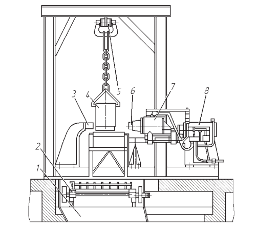 Вибрационная установка для выбивки стержней из отливок