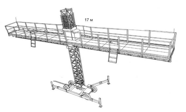 Конструкция одномачтовой строительной платформы