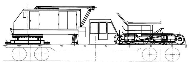 Транспортировка крана ДЭК-321 по железной дороге