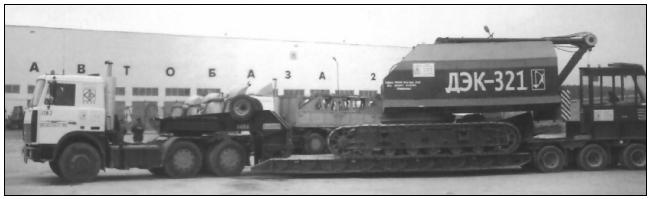 Транспортировка крана ДЭК-321 тягачом