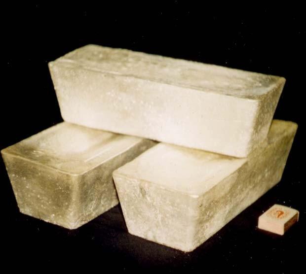 аффинированные слитки серебра