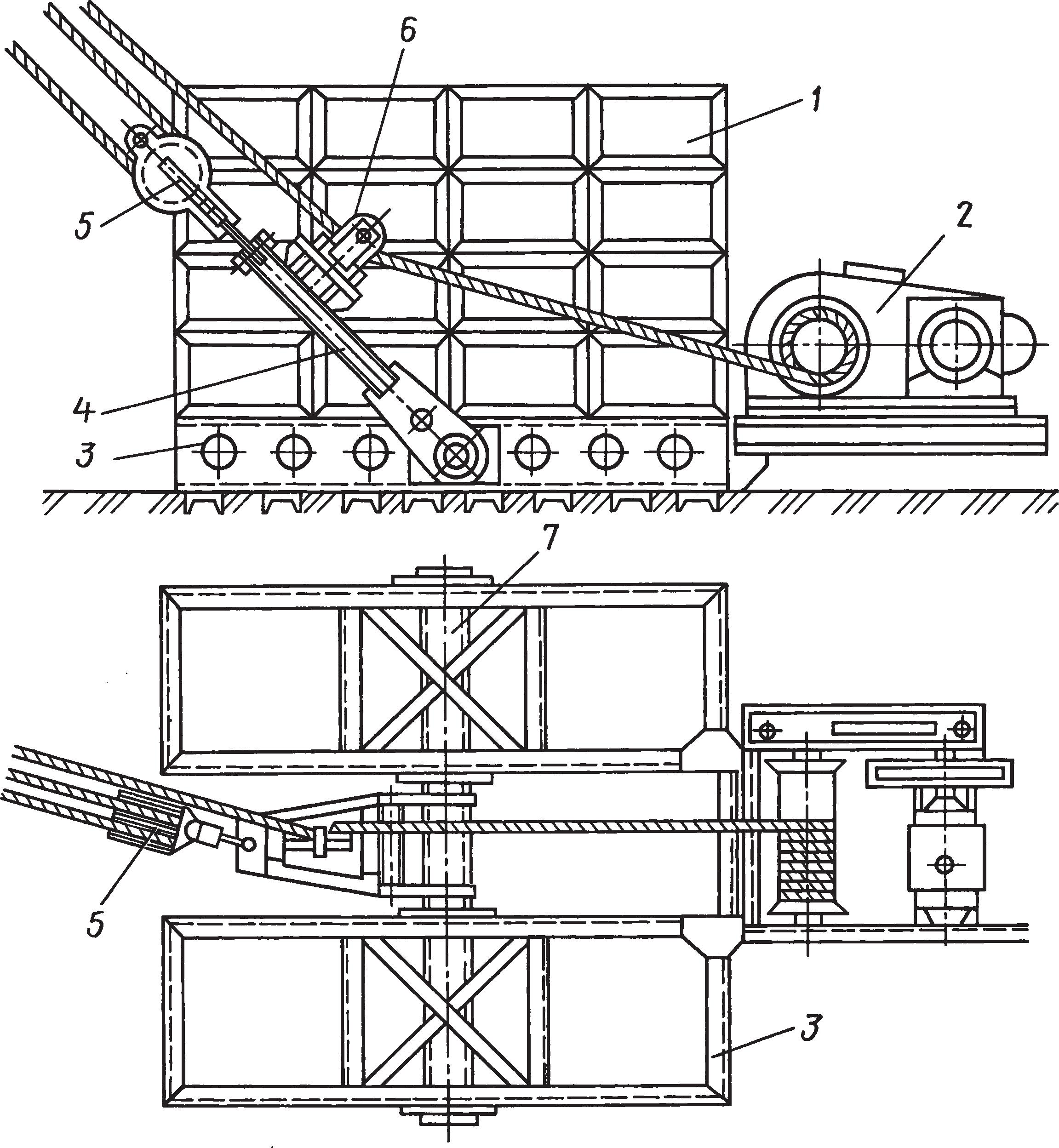 Инвентарный наземный якорь с электролебедкой