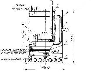 Общий вид аппарата Папок для определения фракционного состава нефтепродуктов методом испарения