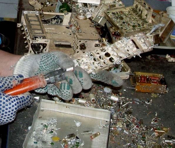 Поэлементный демонтаж аппаратуры