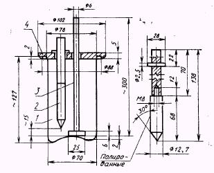 Принципиальная схема аппарата для оценки антикоррозионных свойств масел