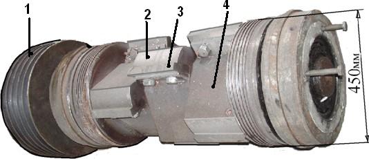 Ротор ножевой дробилки серии модели ИПР
