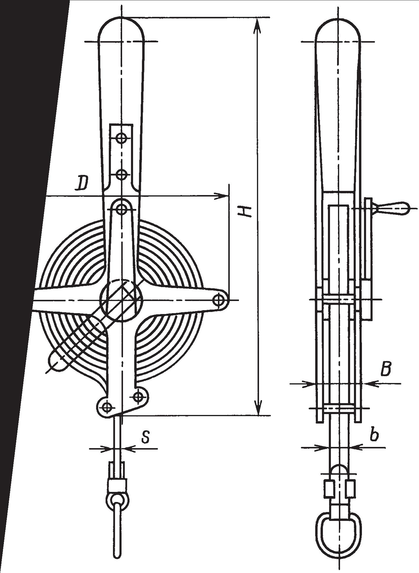 Рулетка в открытом корпусе на крестовине