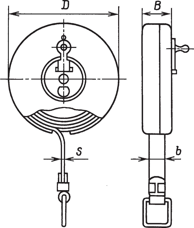 Рулетка в закрытом корпусе с плоской измерительной лентой