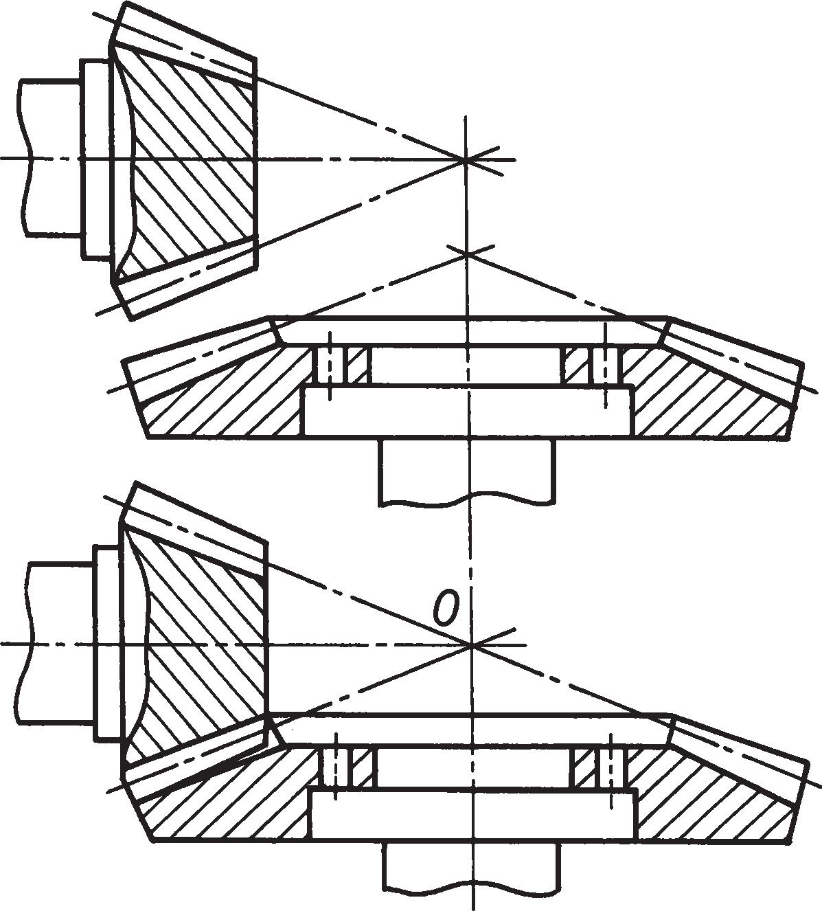 Схема конической зубчатой передачи