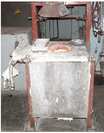 Тигельная индукционная печь, объемом 50 кг по серебру