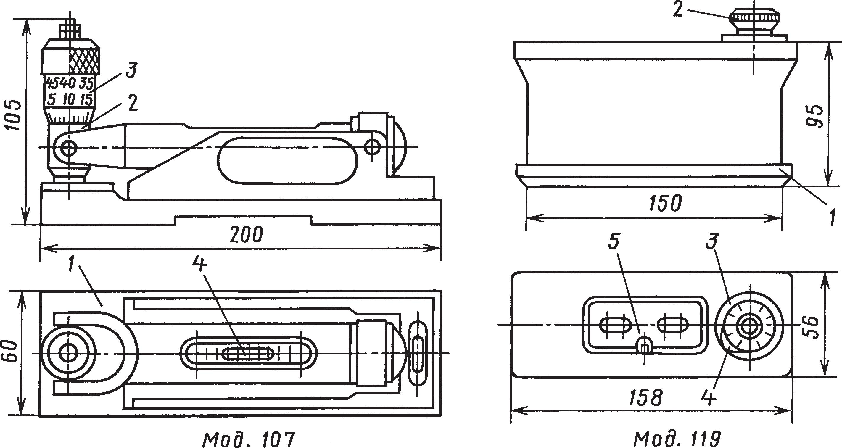 уровни с микрометрической подачей ампулы