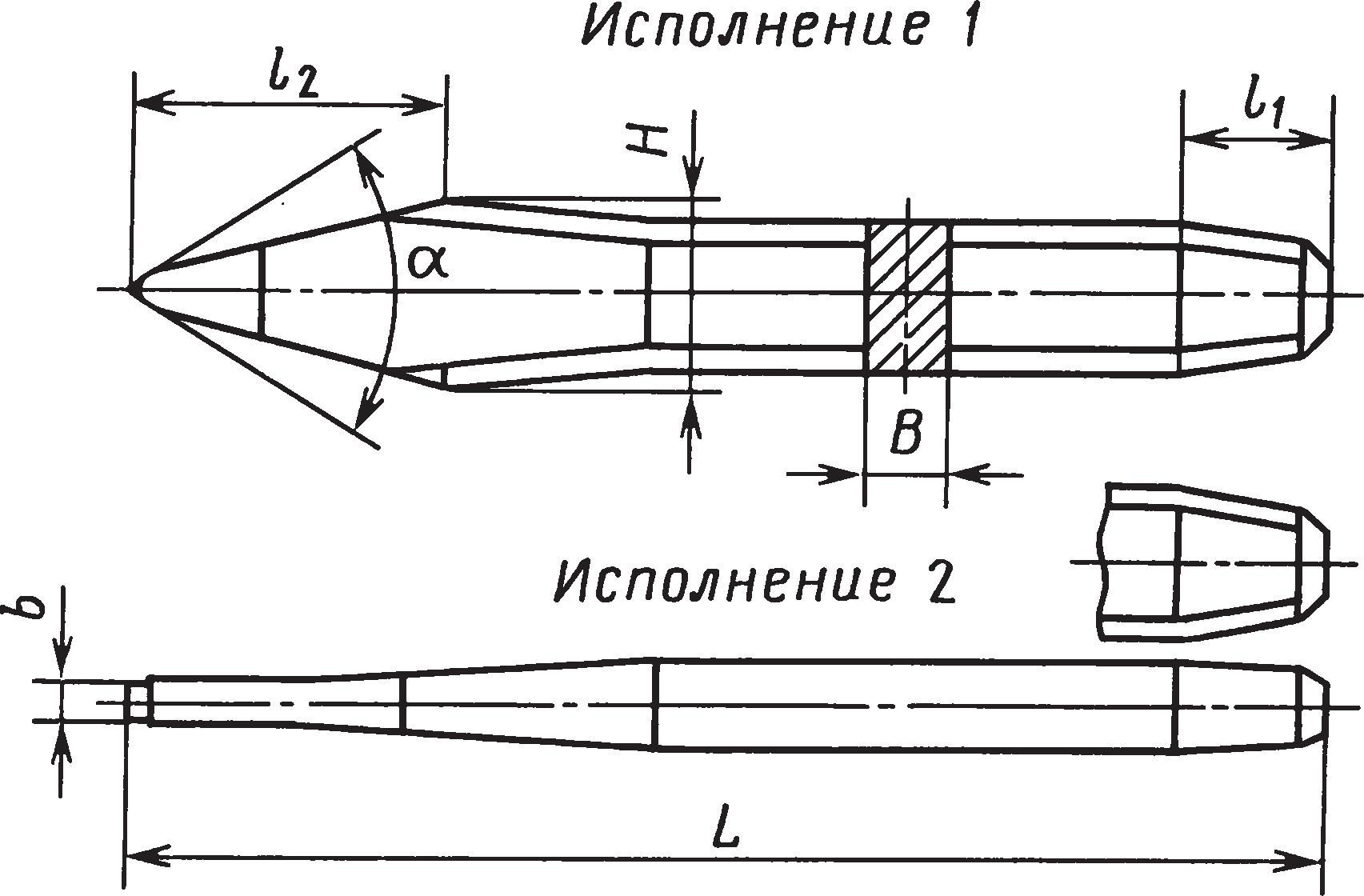 Слесарные крейцмейсели (ГОСТ 7212–74)