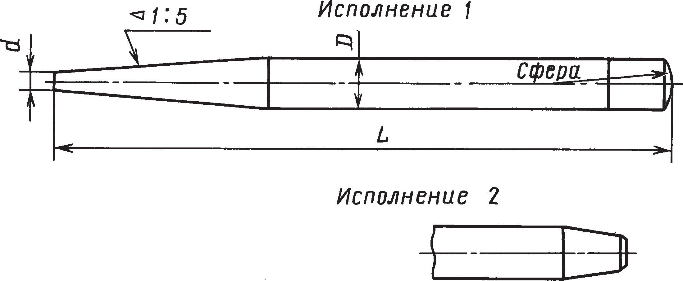 Слесарные бородки (ГОСТ 7214–72)