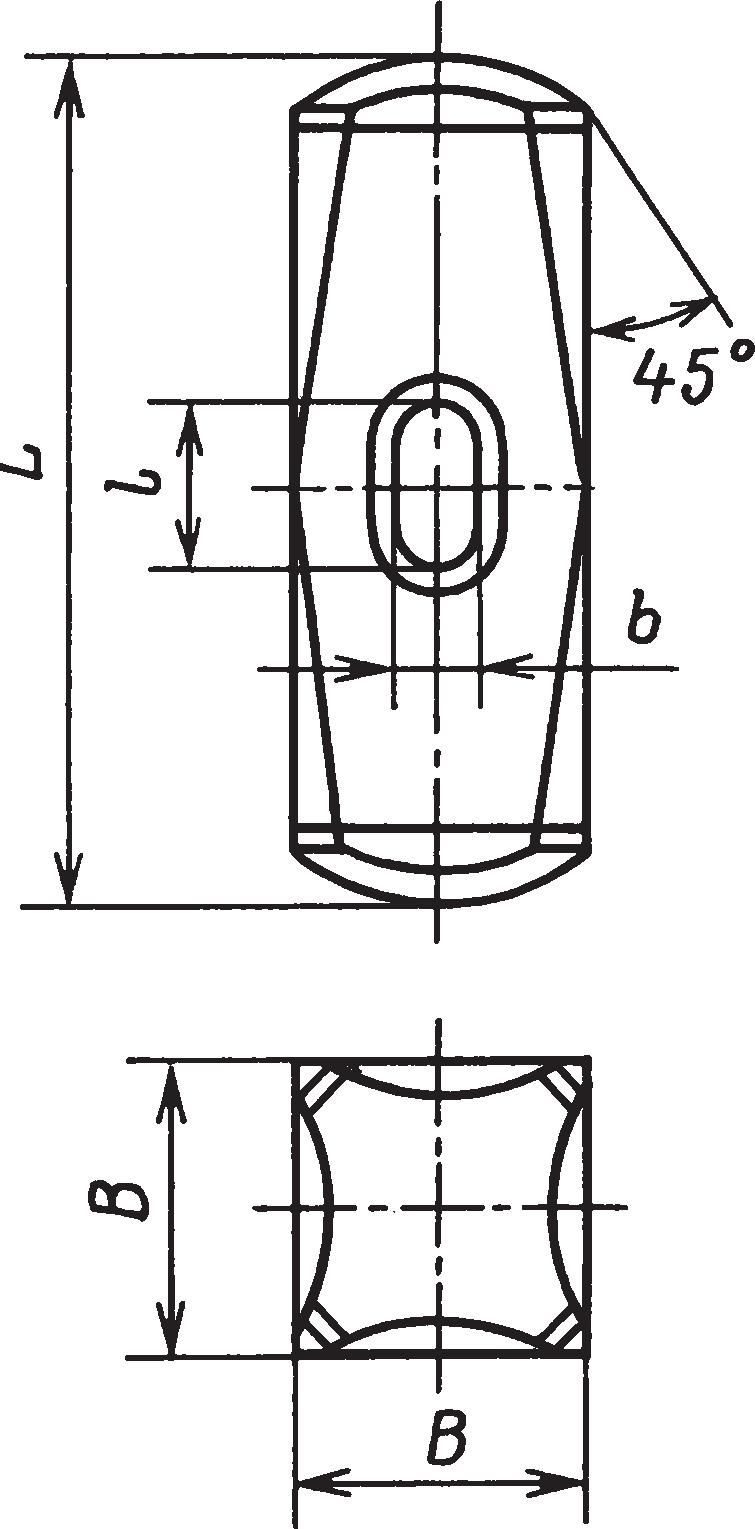 Кузнечные тупоносые кувалды (ГОСТ 11401–75)
