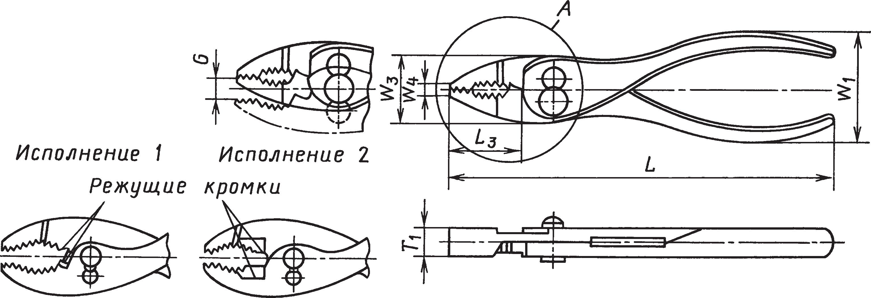 Переставные плоскогубцы (ГОСТ 17439–72)