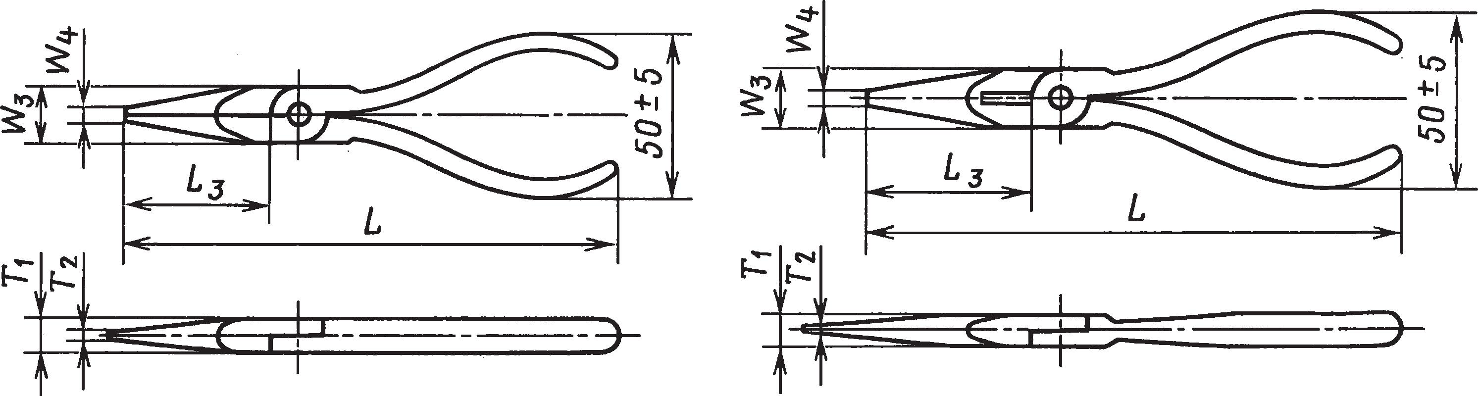 Плоскогубцы с полукруглыми губками (ГОСТ 17440–93)
