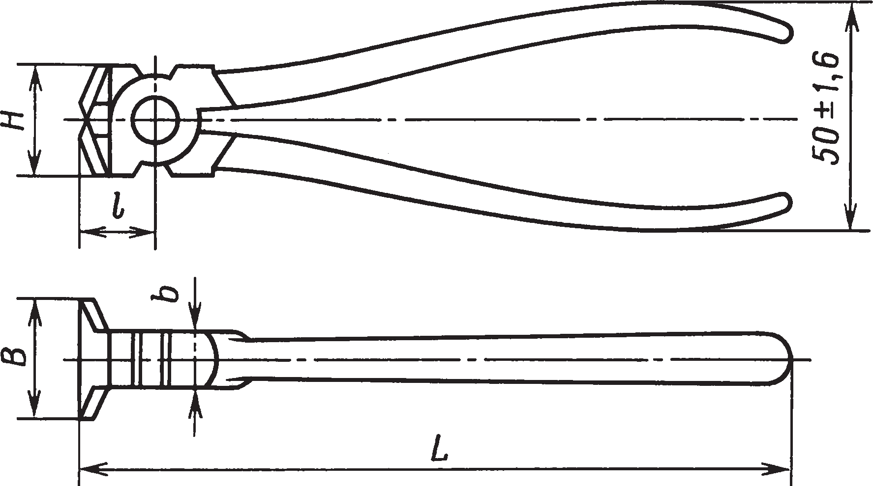 Кусачки торцовые (ГОСТ 28037–89)