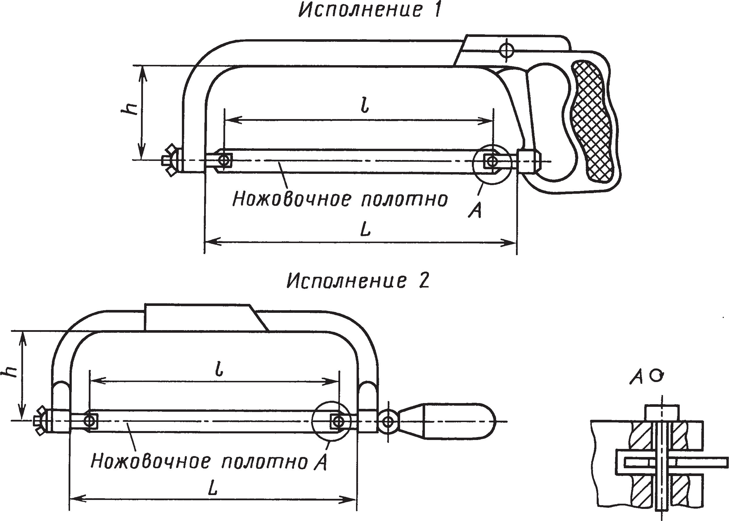 Ножовочные ручные рамки (ГОСТ 17270–71)
