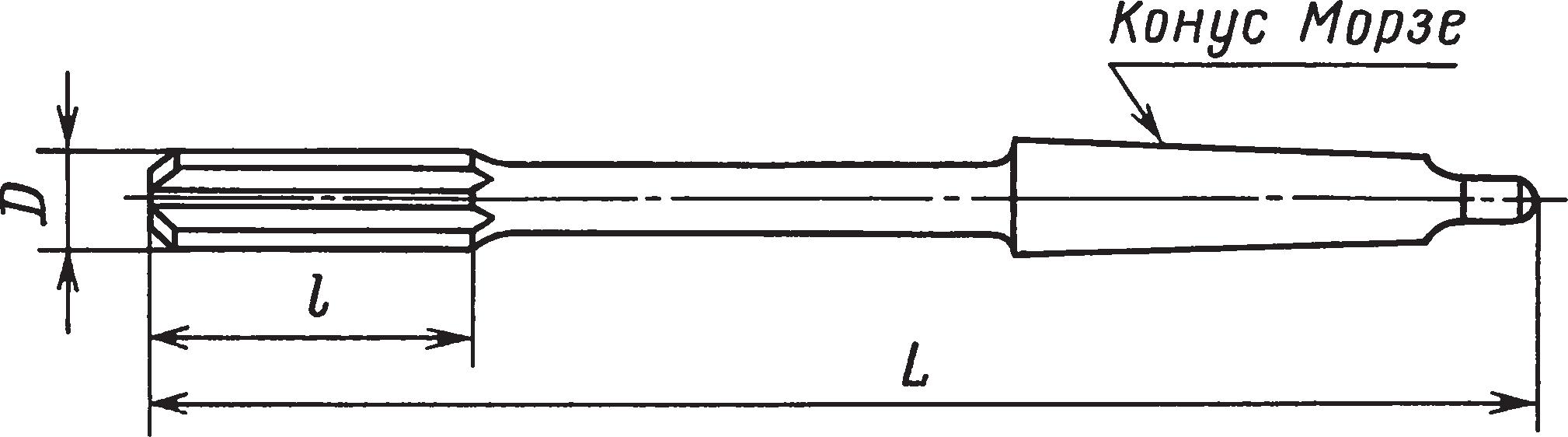 Машинные цельные развертки с коническим хвостовиком — тип 2 (ГОСТ 1672–80)