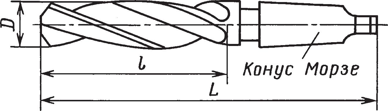 Цельные длинные зенкеры с коническим хвостовиком (ГОСТ 12489–71)