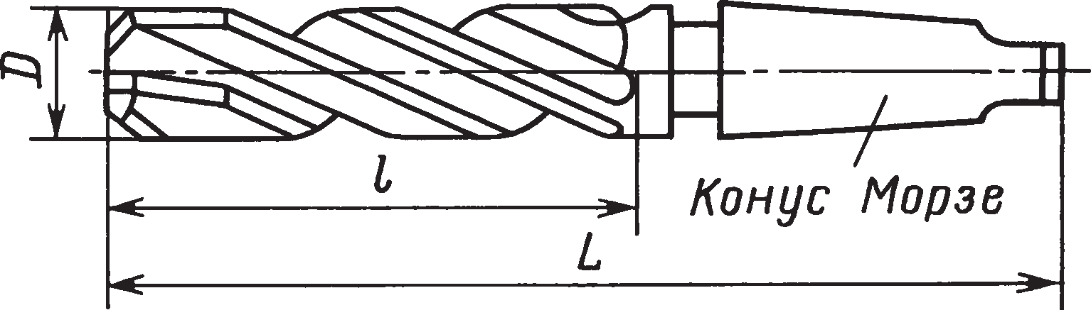 Зенкеры с коническим хвостовиком, оснащенные пластинами из твердого сплава (ГОСТ 3231–71)