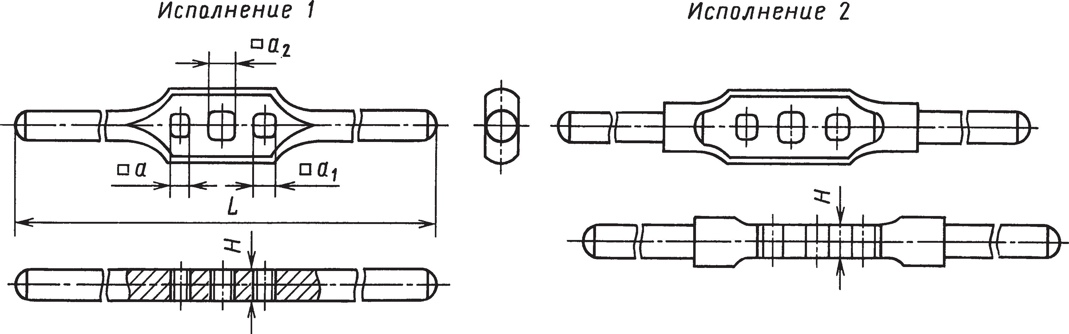 Трехгнездные воротки для инструмента с квадратными хвостовиками (ГОСТ 22399–77)