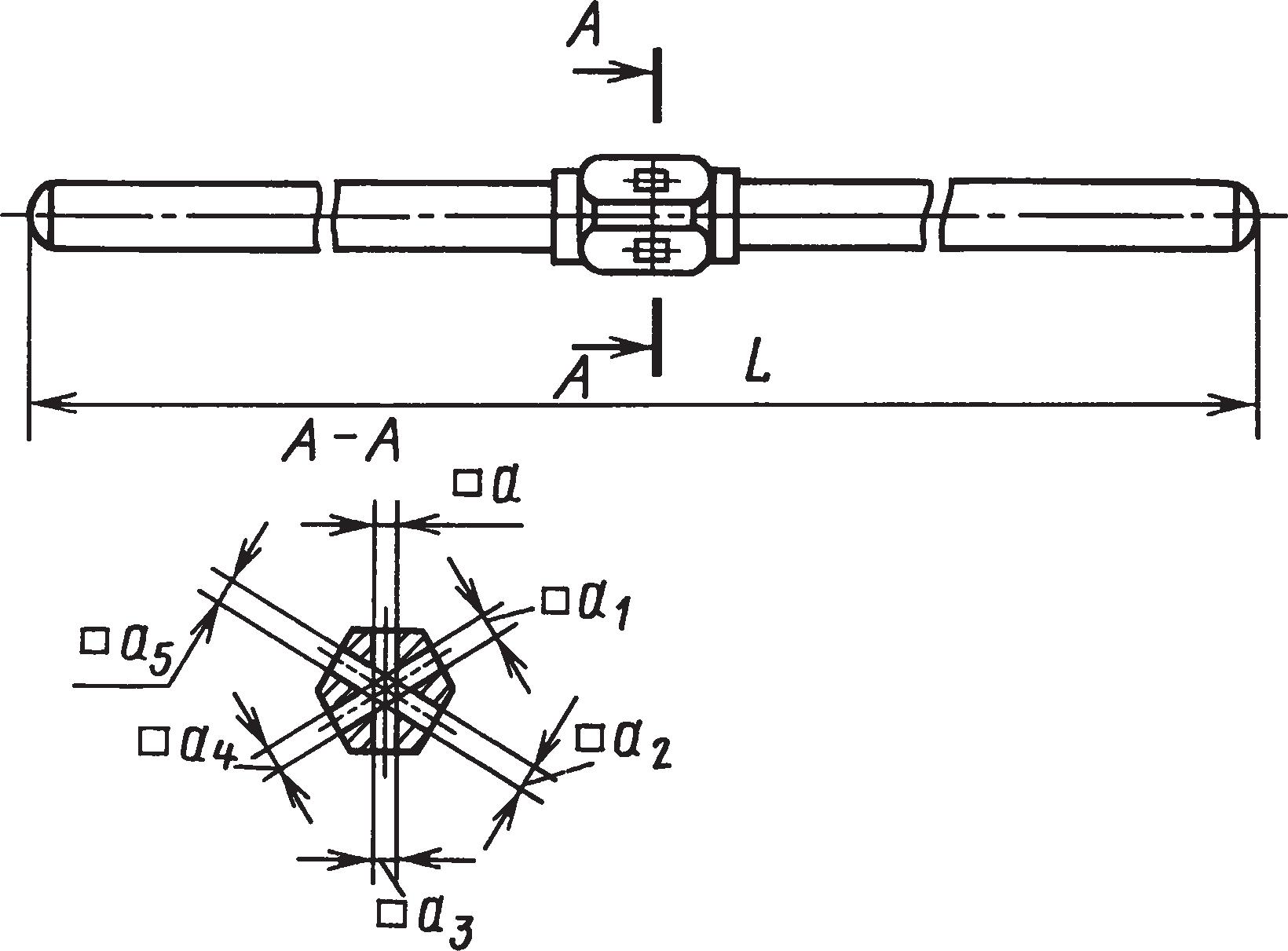 Шестигнездные воротки для инструмента с квадратными хвостовиками (ГОСТ 22400–77)