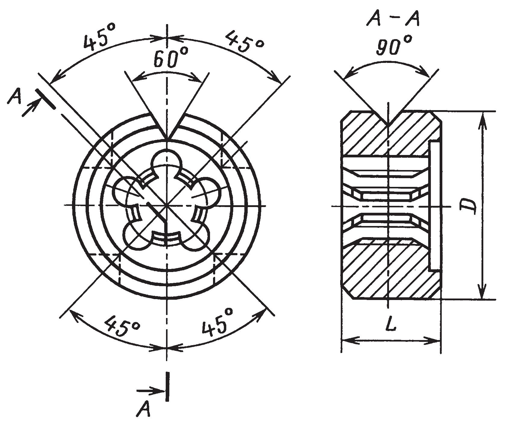 Круглые плашки (ГОСТ 9740–71) для нарезания метрических резьб