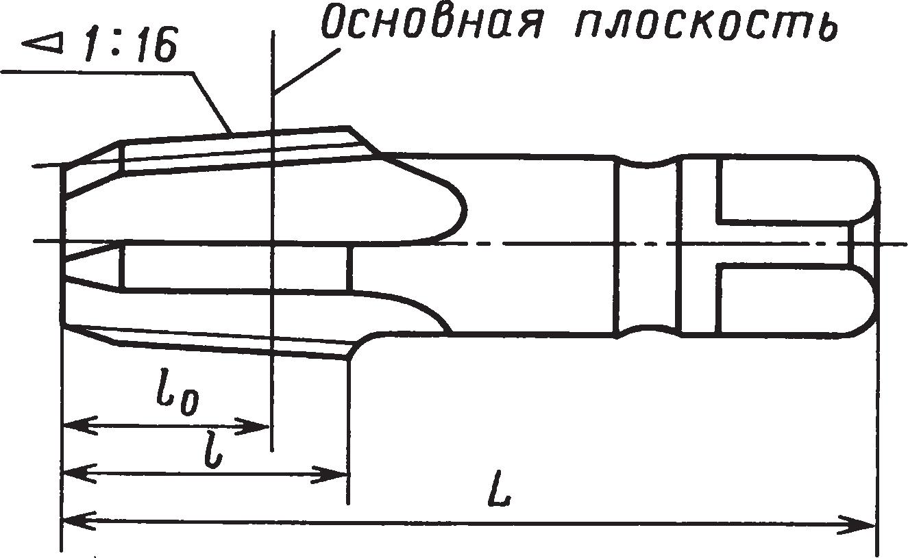 Метчики для конической резьбы (ГОСТ 6227–80Е)