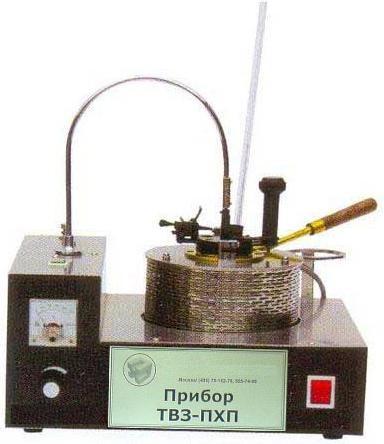 Аппараты для определения температуры вспышкив закрытом тигле