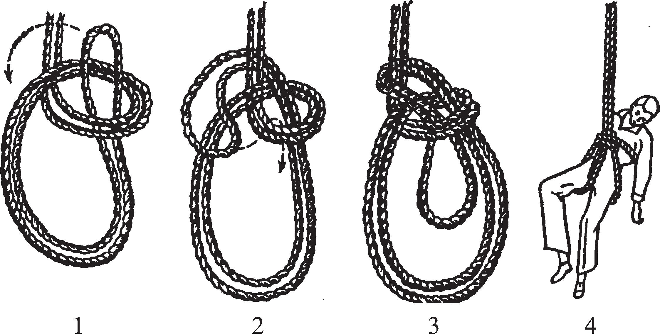 Тройной морской спасательный узел