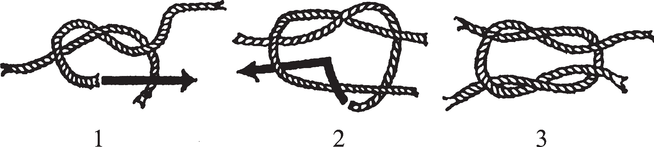 Рифовый или квадратный узел