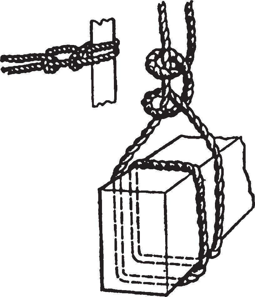 Виток и два полуузла (штыковой узел)