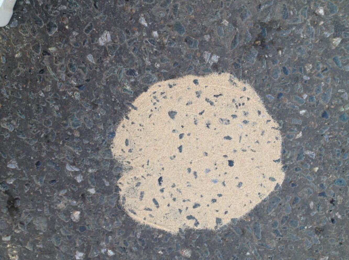 Песчаное пятно в форме круга