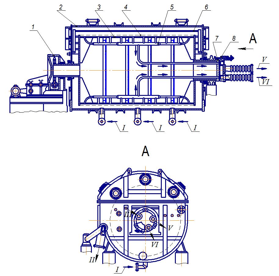 Барабанный вакуум-фильтр с наружной фильтрующей поверхностью