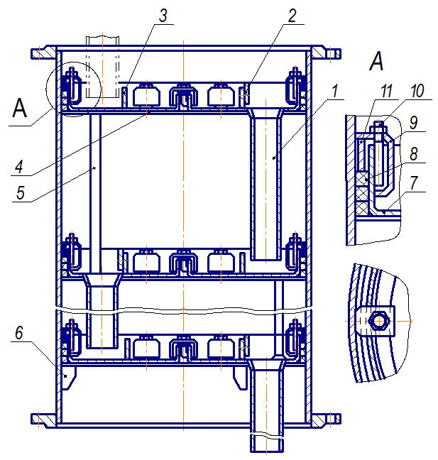 Царга тарельчатой колонны
