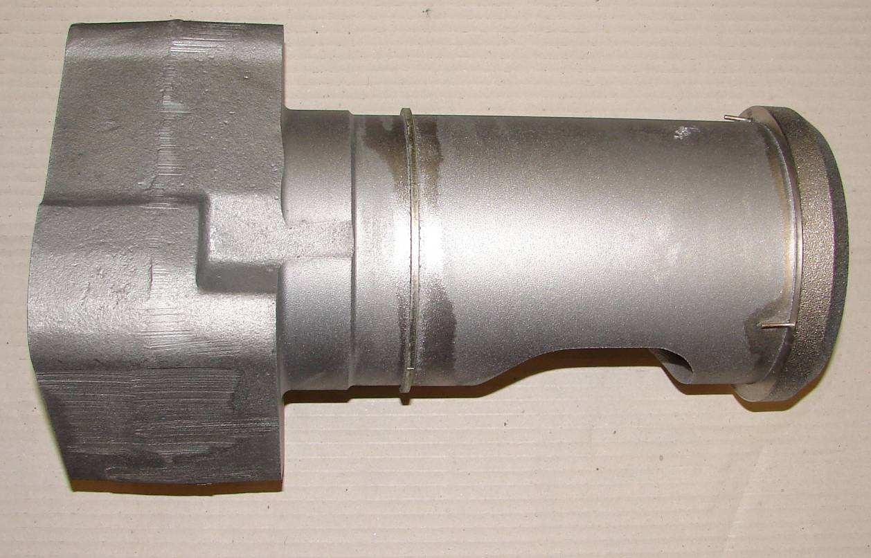 Деталь головки цилиндра (водоохлаждаемый узел клапана) после пайки порошком Metco