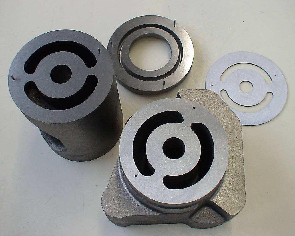 Деталь головки цилиндра (водоохлаждаемый узел клапана) до пайки порошком Metco