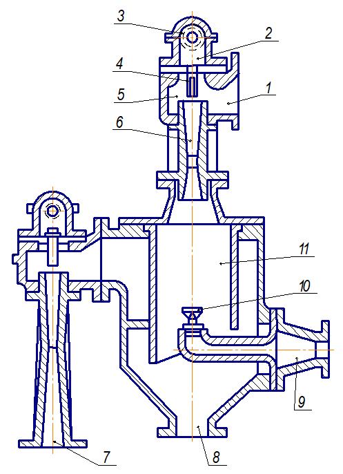 Двухступенчатый пароструйный эжектор