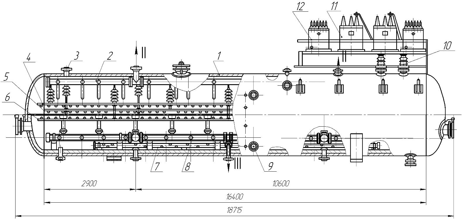 Электродегидратор горизонтальный 2ЭГ 160-2
