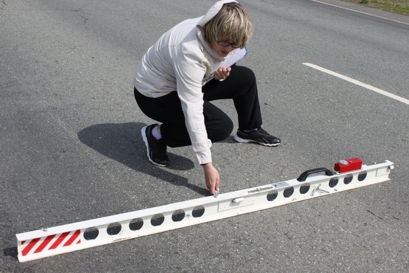 Измерение просвета под двухметровой рейкой