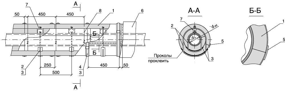 Изоляция трубопроводов или воздуховодов круглого сечения матами ТЕХ МАТ, кашированными фольгой, в два слоя