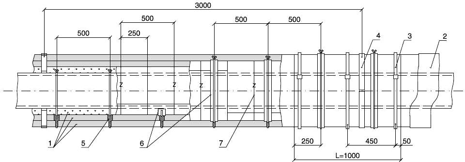 Изоляция трубопроводов матами ТЕХ МАТ в три слоя с креплением бандажами и подвесками