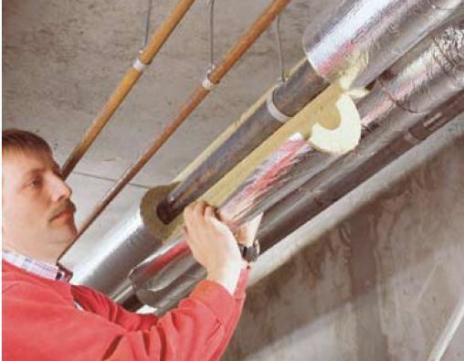 Изоляция трубопроводов с помощью цилиндров