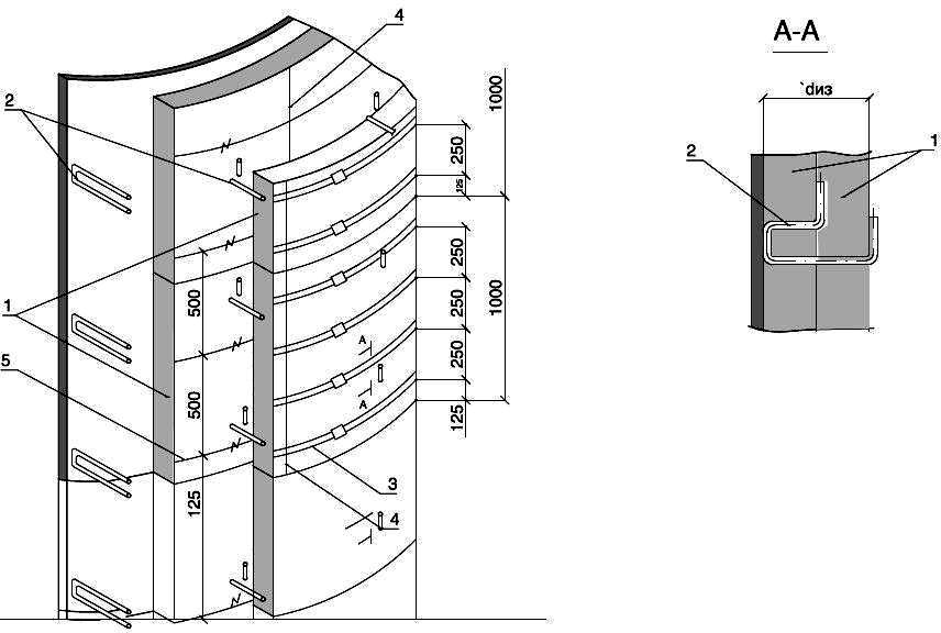 Изоляция вертикальных аппаратов матами ТЕХ МАТ в два слоя с креплением штырями