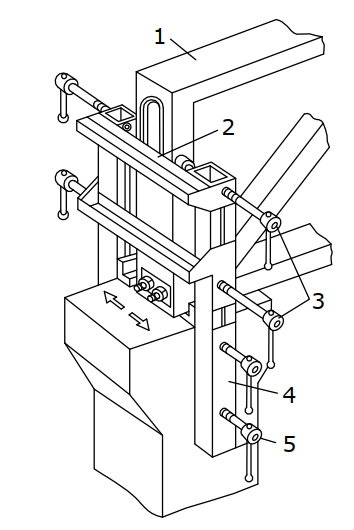 Кондуктор для выверки и временного закрепления на опоре ферм (балок)