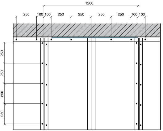 Конструктивная схема каркасно-обшивной перегородки – монтаж облицовки