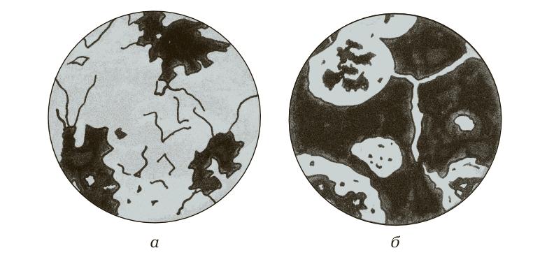 Микроструктуры ковкого чугуна