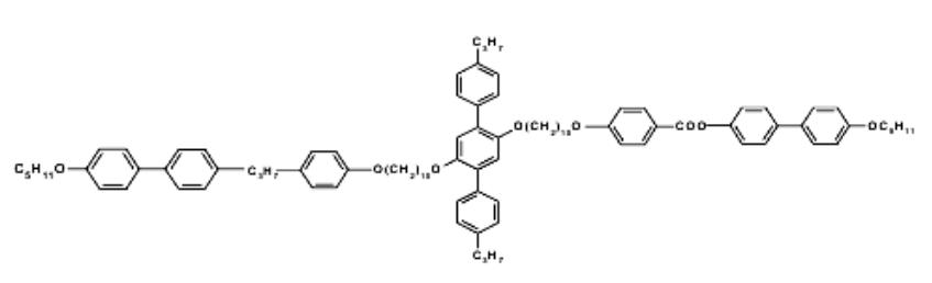 Молекулярное строение ауксетичного полимера