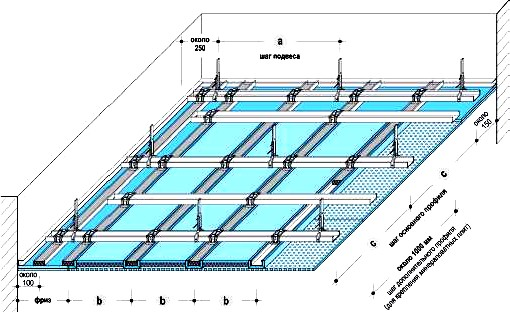 Монтажная схема потолка П123